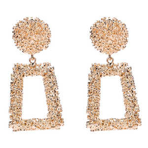 Big Vintage Earrings for Women Gold Color Geometric Statement Earring 2018 Metal Earing Hanging Fashion Jewelry