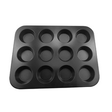 Carbon Staal Anti-aanbak <span class=keywords><strong>Bakken</strong></span> <span class=keywords><strong>Pan</strong></span> Insert Cupcake Mold 12 Cups Muffin <span class=keywords><strong>Pan</strong></span>
