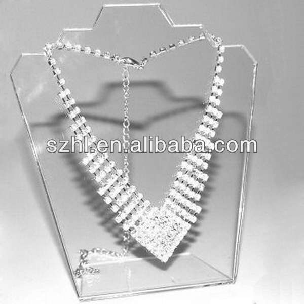 Transparent Acrylic Jewellery Stand Display For Necklace