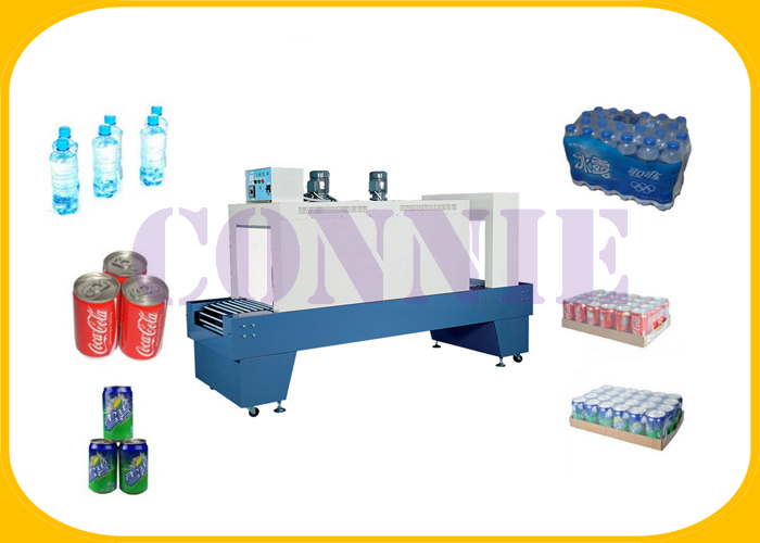 50HZ Automatic Plastic Shrink Wrapping Machine For PET Water Bottle