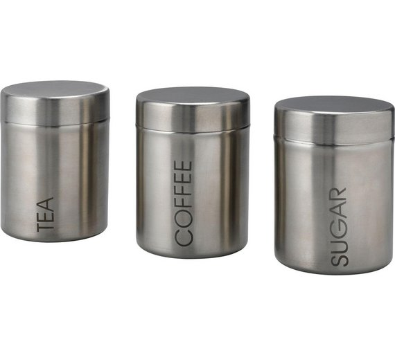 Premium Stainless Steel Coffee Tea Sugar Container Set Canister Sealed Can Product On Alibaba
