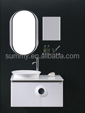 Smart Design White plyWood Bathroom Vanity with Side Cabinet (SW-8961)