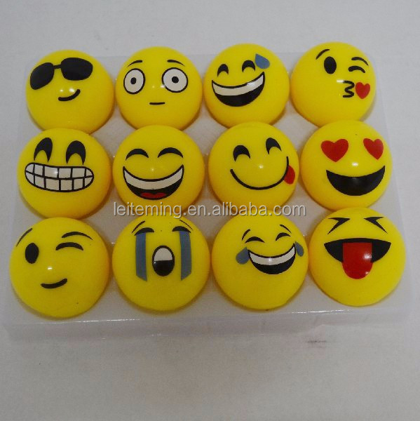 5,5 cm weiche emoticon kinder blinkende springenden ball