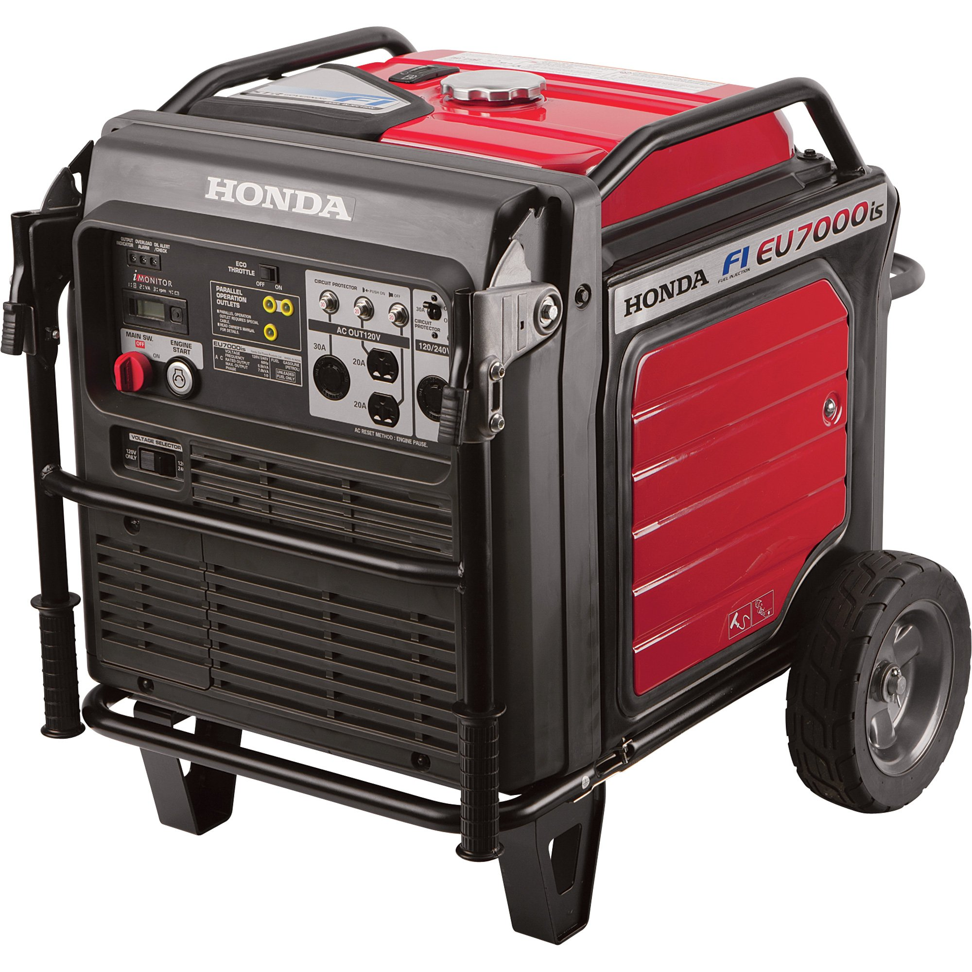 Get Quotations · Honda 7000W Super Quiet Light Weight Inverter 120/240v  Fuel Efficient Generator with iMonitor LCD