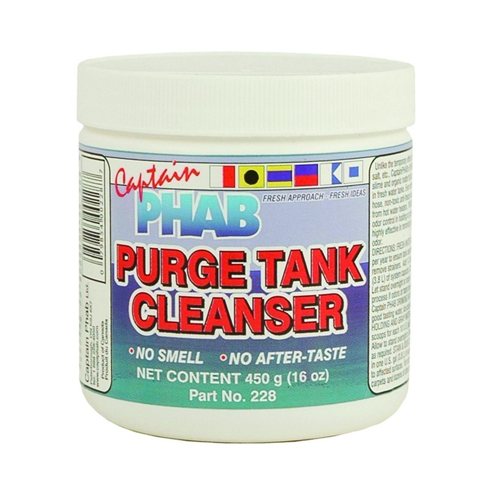 PURGE TANK CLEANSER - for potable water storage tanks, 00228, 16oz 450g