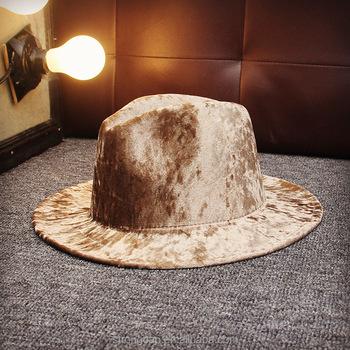 Eropa dan gaya Inggris beludru topi pantai wanita panama Jazz klasik joker  besar penuh musim panas 5f20d79049