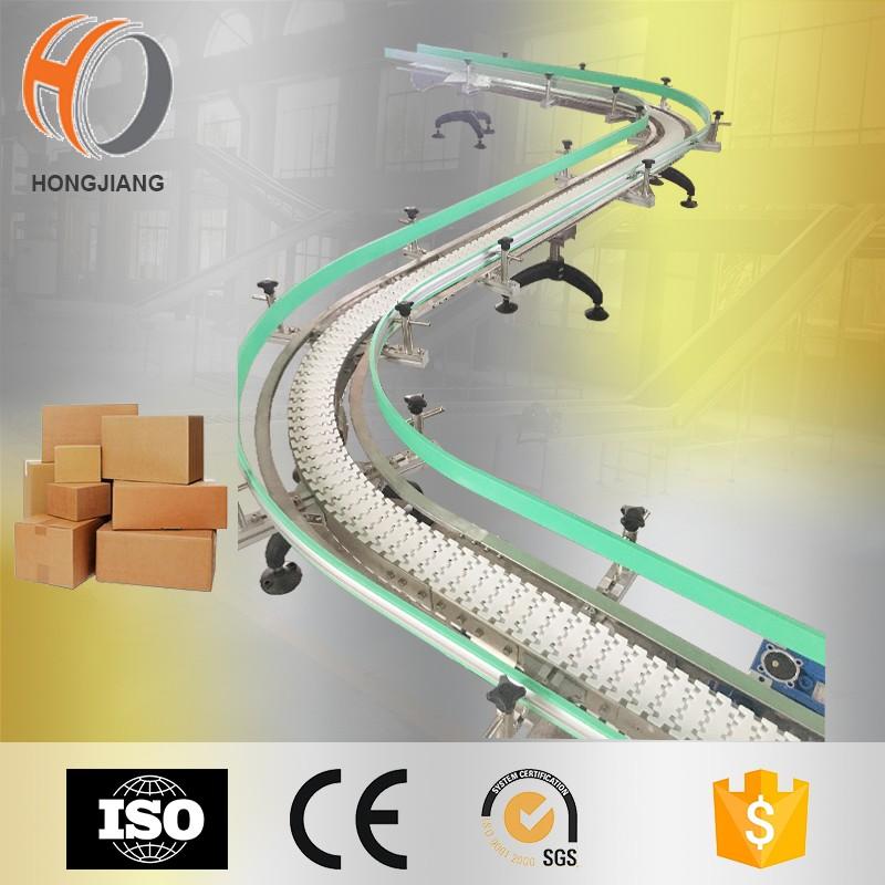 معدات مناولة المواد المصنع ، S نظام نقل سلسلة الشكل لنقل الكرتون