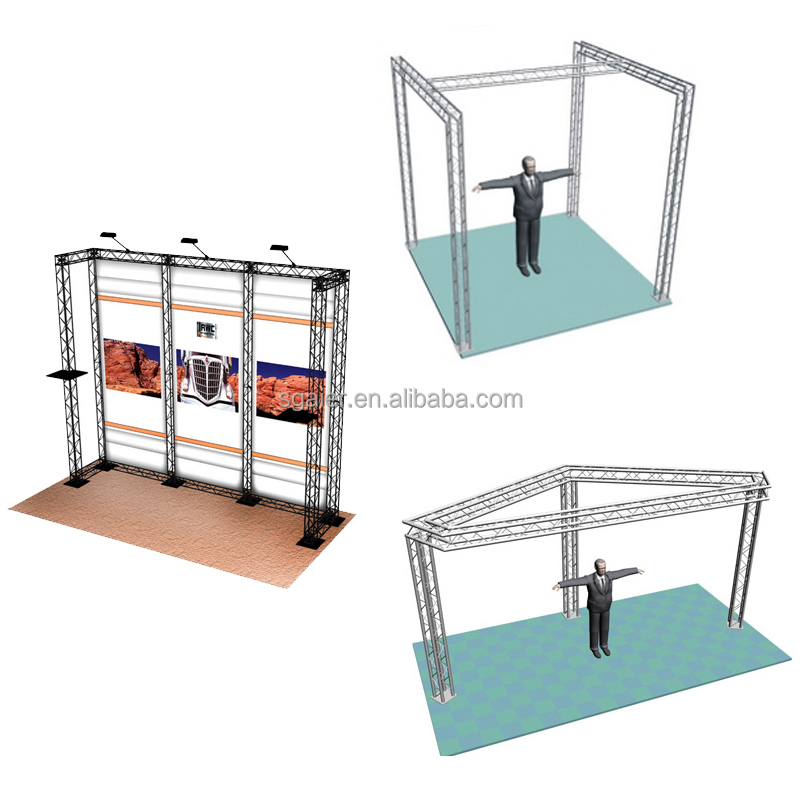 Exhibition aluminum truss <strong>trade</strong> show booth custom made install guidance