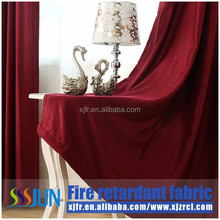 Supply JUN brand permanent flame retardant hotel curtain, fireproof curtain