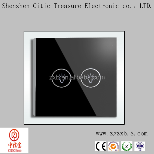 Glass Panel Touch 1 Gang Wall Light Switch With Led,Dimmer Light ...