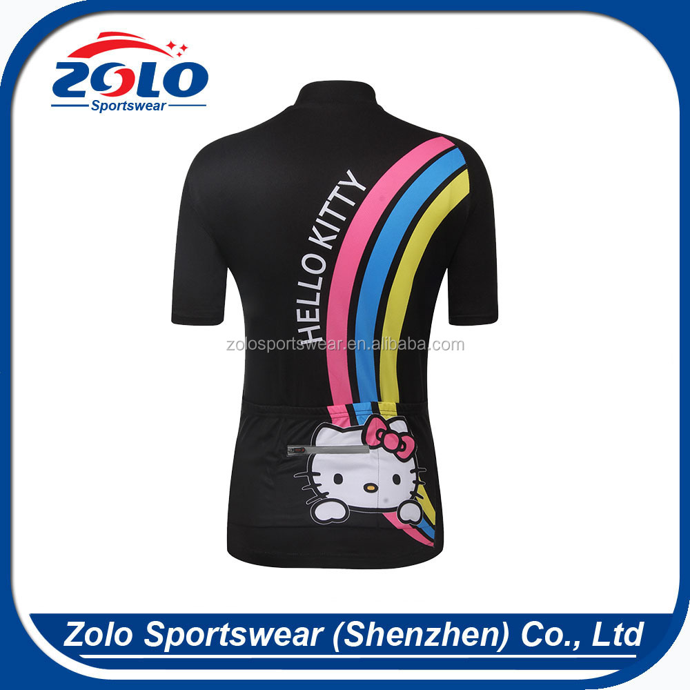 Custom Women Short-sleeved Suit Breathable Wicking Quick-dry Sublimation Printing Cycling Bike Jerseys