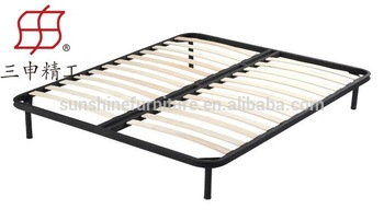 single double queen size latest metal bed designs in wood slat bed frame metal frame