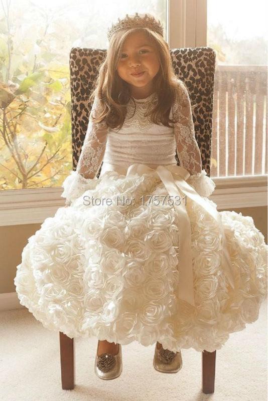 Vintage little girls white dress think, that