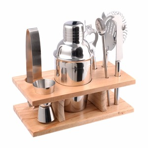 High Quality Stainless Steel Cocktail Shaker Mixer Drink Bartender Martini Tools Bar Set