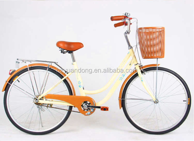 24''single speed women's city bike/bicycle/cycling with basket for lady