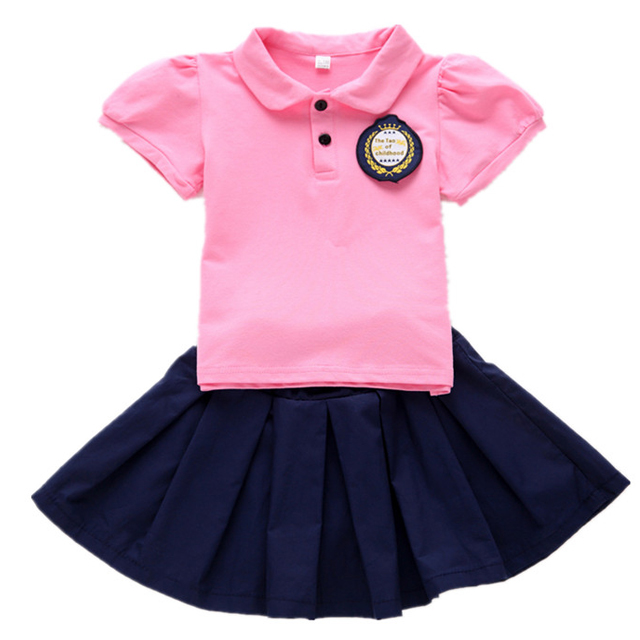 New design cotton kids kindergarten school uniforms