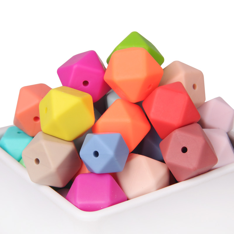 Food Grade Silicone Material Hexagon Beads