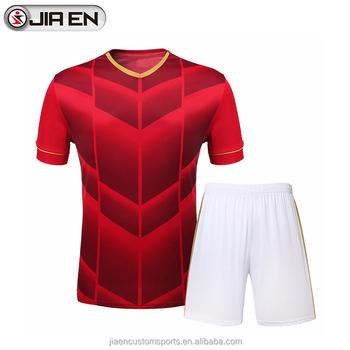 73aba6516fc New model custom red blank soccer jersey latest design football jersey  uniforms