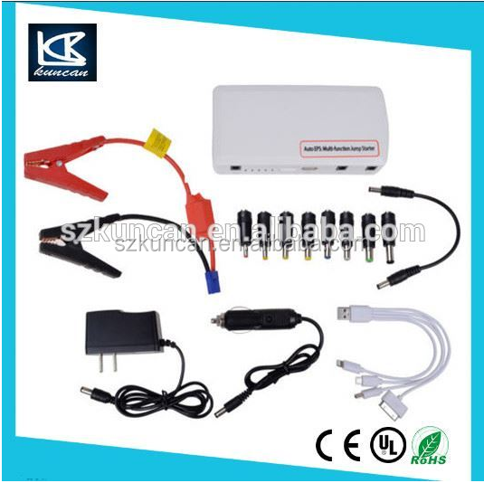 12-24V car jump starter kit/ car booster starting tool cables with power bank