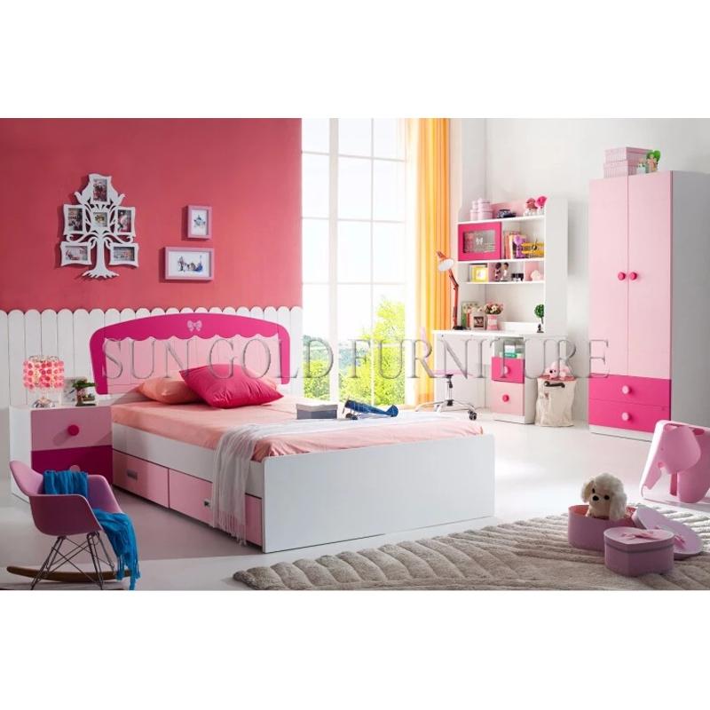 Modern Boys & Girls Bedroom Furniture Kids Bedroom Set (sz-bf11)