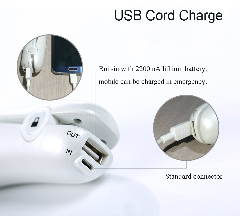 2200MA Battery Rechargeable Travel Mini Cordless Lockable hair straightener