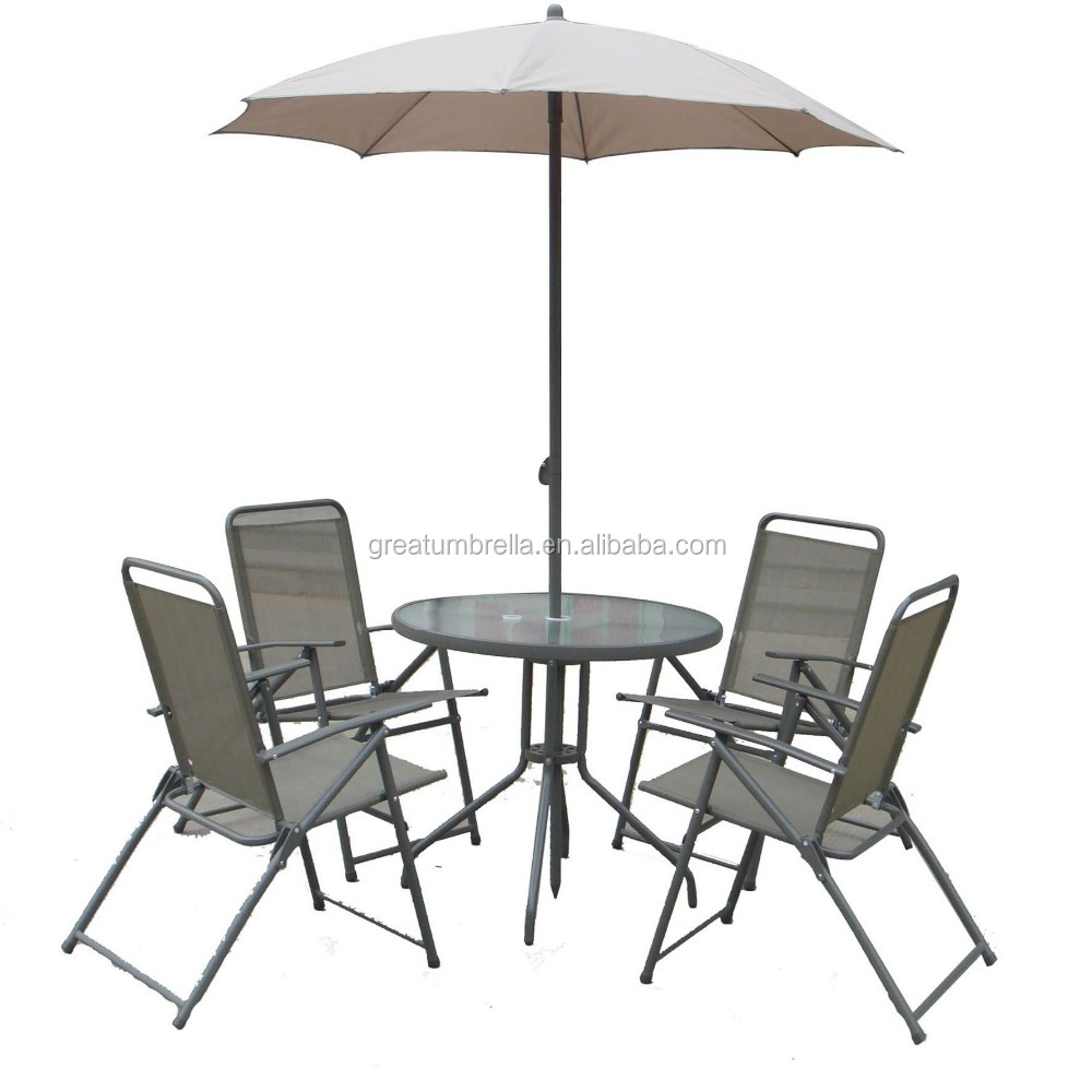 patio umbrella with table set