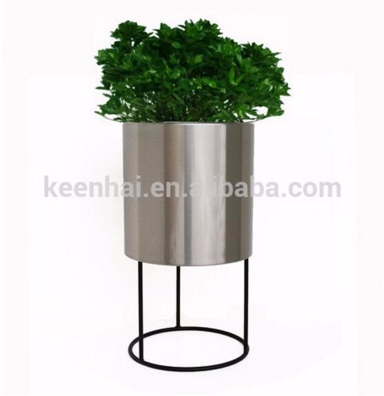 Stainless steel hanging flower pot stand flower pot rack buy flower pot rack metal hanging - Flower pot stands metal ...