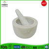 White Marble Engraved Mortar and Pestle