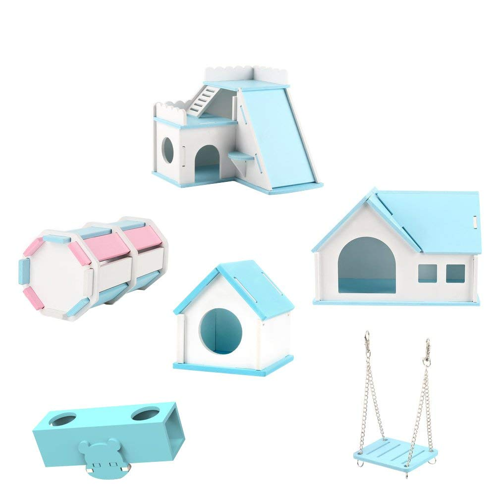 OMEM Hamster House Small Animal Hideout, Pet Mini Hut,Hamster Cabin,Hamster Cages,Portable Hamster Room, Pet Wooden Toys,Pet Hamster Toys