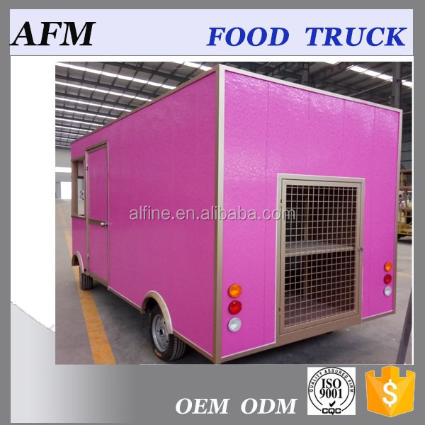 Mobile Electric fast food truck biscuit food cart