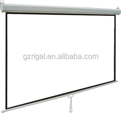 Manual Projector Screen self-lock projection screen / Wall & Ceiling mounted pull down matt white