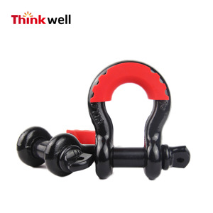 Hot Sale HDG Forged Steel Shackle Padlock Tow Shackle Autozone Shackle  W/Sleeve for Car & Truck
