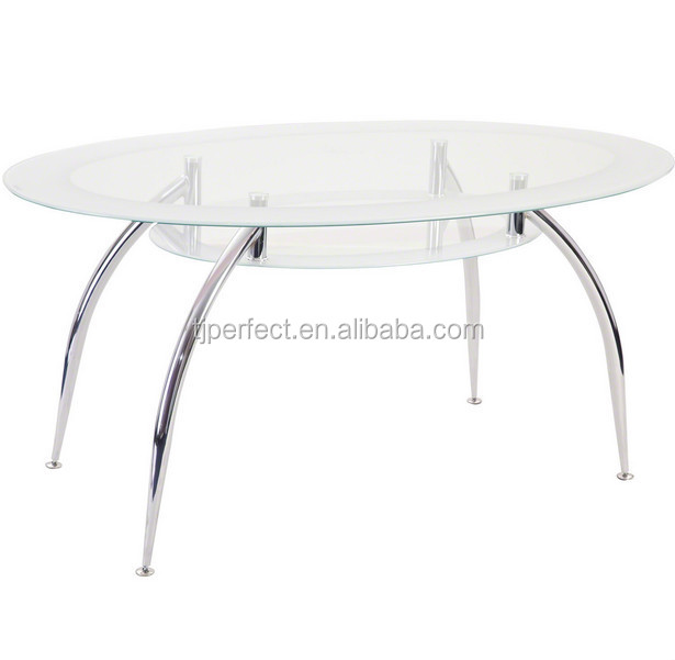 Oval Glass Dining Table modern oval glass,chrome leg,cheap dining table - buy dining table