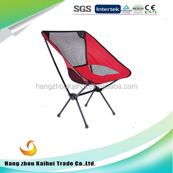 2015 Hot sales outdoor aluminum portable compact folding camping chair with carry bag