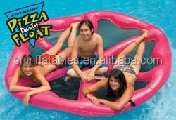 Manufacture Inflatable Pizza Float Mattress For Pool