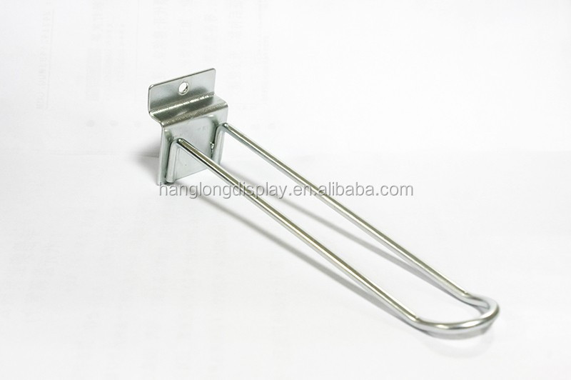 Retail metal wire hook for display racks