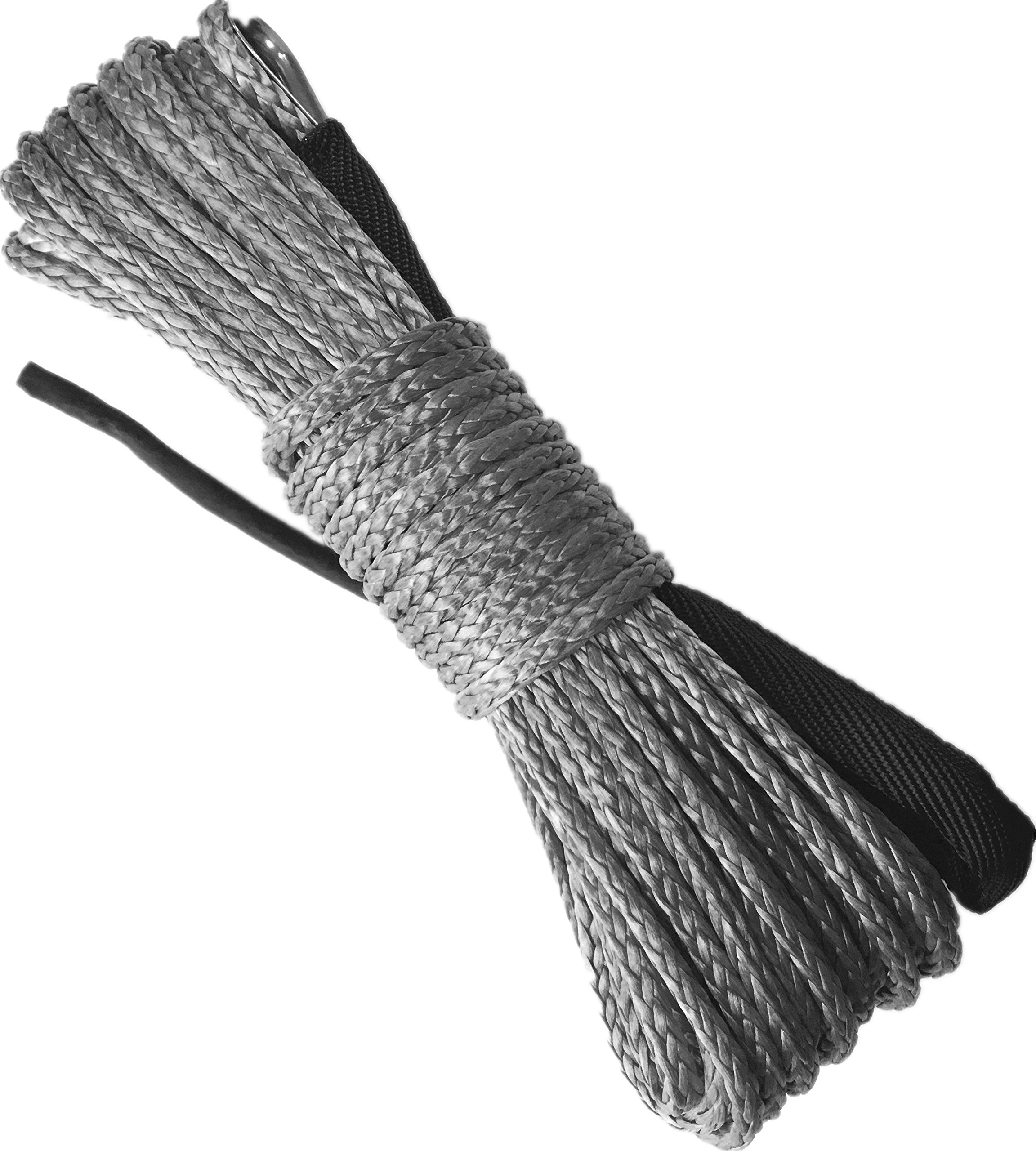 Cheap Dyneema Sk75 Winch Rope Find Deals On Quadboss 2500lb Wiring Diagram Get Quotations X Bull 1 4 49 Synthetic 10000lbs