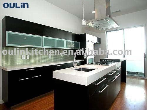 New wooden kitchen cabinet and furniture