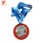 Souvenir Souvenir Custom Shaped Souvenir Sports Award Souvenir Metal Medal With Lanyard Ribbon