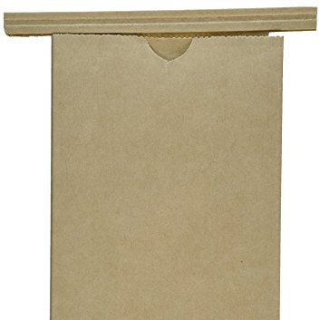 kraft tin tie coffee bags 1 lb 50 pcs (Brown)