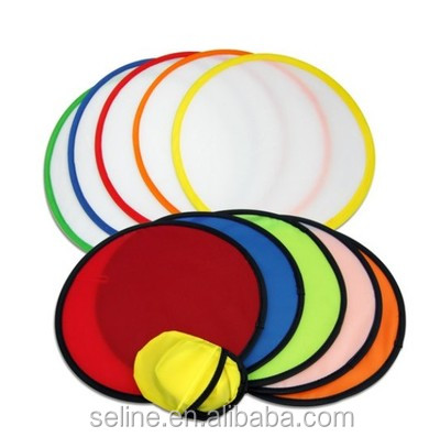 Seline 10 inch promotional outdoor foldable nylon pop up frisbee