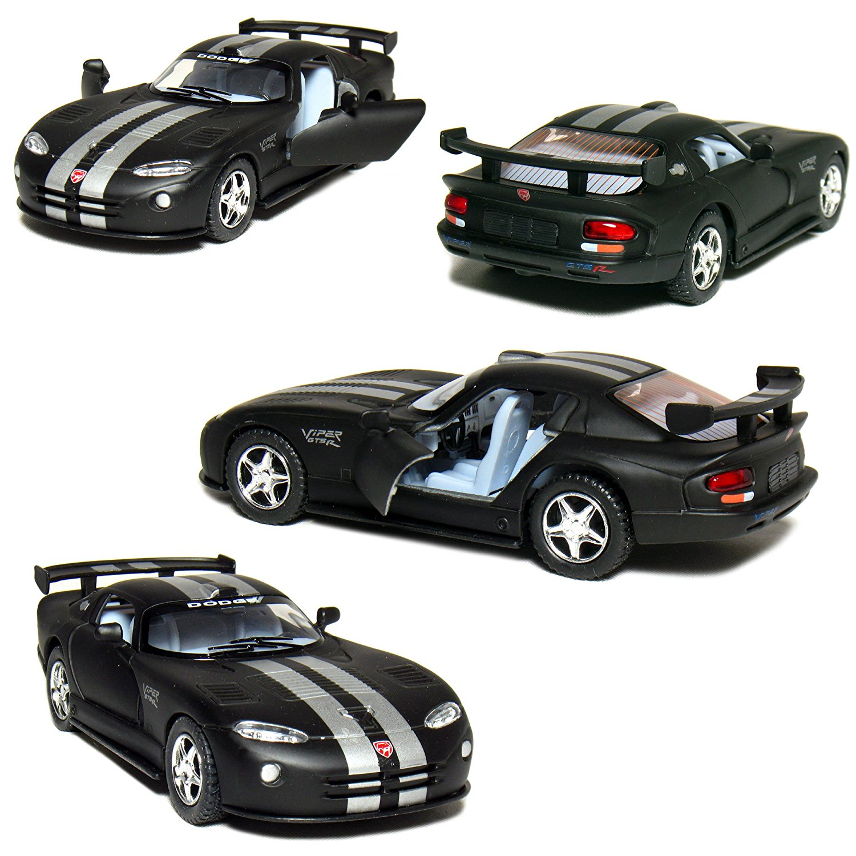 """Kinsmart 5"""" Die-cast Dodge Viper GTS-R, Primer Black."""