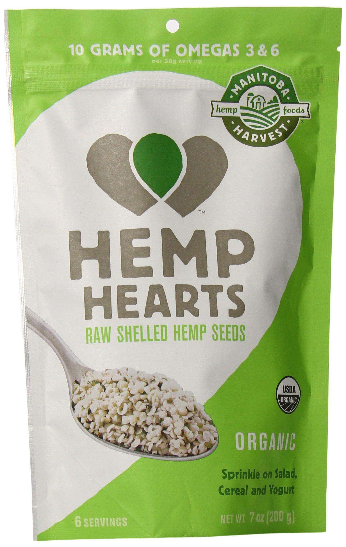 Manitoba Harvest Organic Hemp Hearts Raw Shelled Hemp Seeds, 7oz; with 10g Protein & Omegas per Serving, Non-GMO, Gluten Free