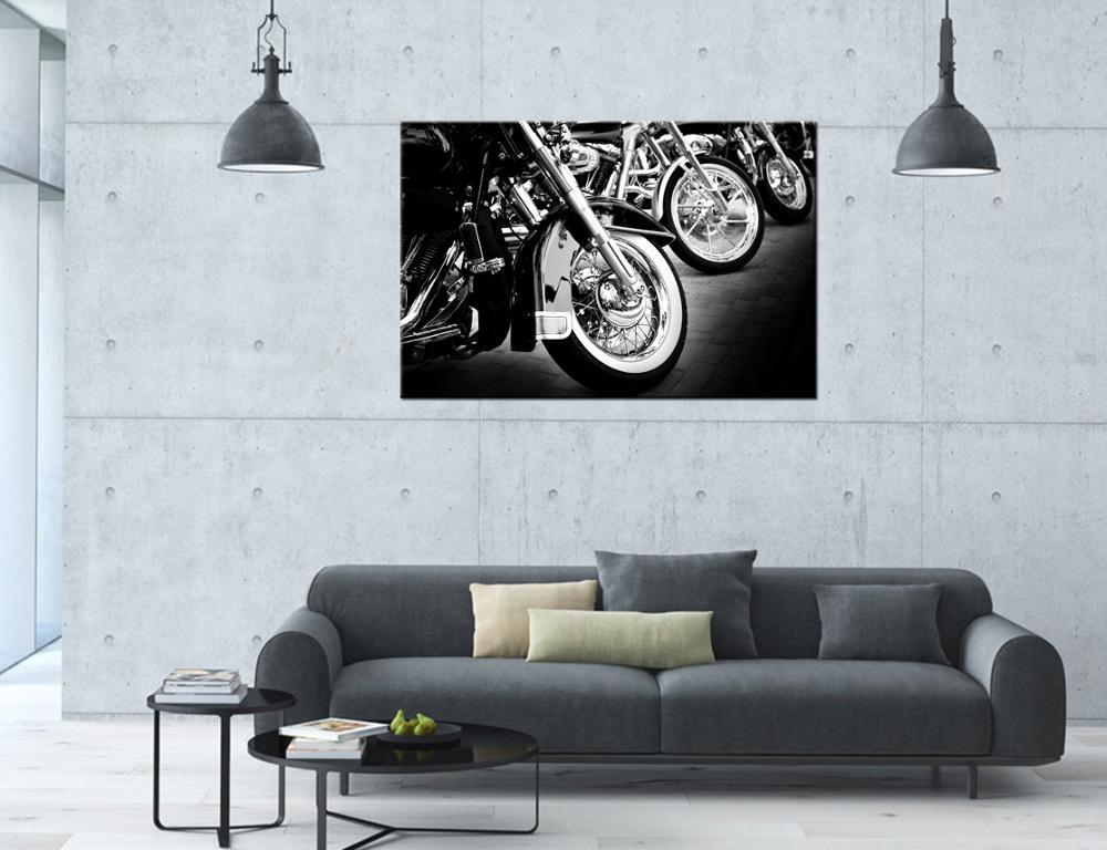 Personnalisé toile impression hd moto image photo impression sur