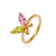 11461 xuping wholesale children jewelry multi color stone gold baby ring