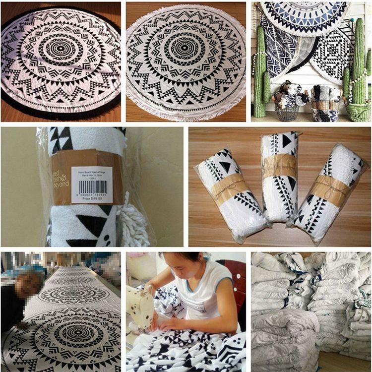 100%cotton Printed Jacquard Ihram Towel
