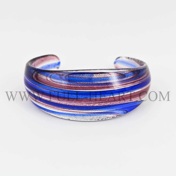 Blue&purple Murano glass handmade bangle women accessories gift for lady