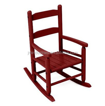 Personalized Kids Two Slat Back Rocking Chair Child Wood White Wooden Product On Alibaba