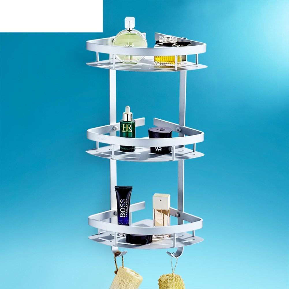 bathroom/Bathroom racks/ wall-mounted storage/Three-tier bathroom rack/Triangle/The corner/Racks-B