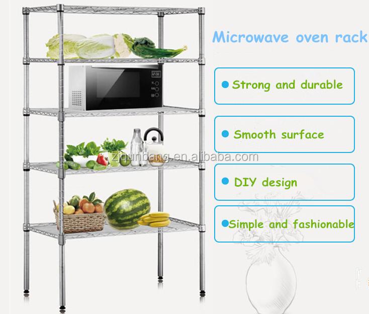 5-tier Multi-function Metal Wire Shelf/microwave Oven Rack - Buy ...